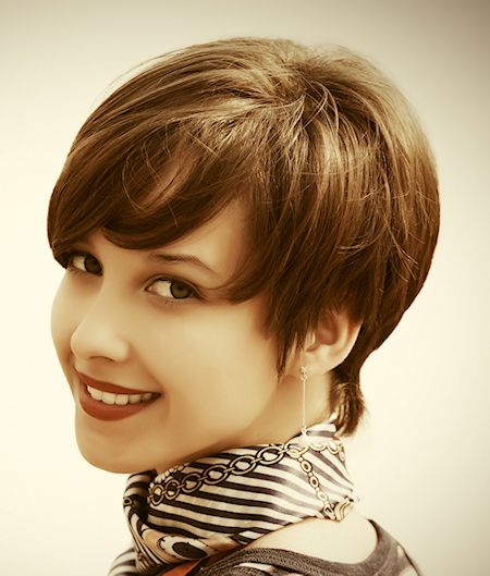 Pixie with Swept Bangs