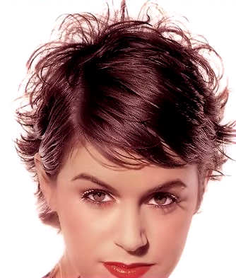 Spikes and Ruffles are Synonymous with Short Hairstyles.