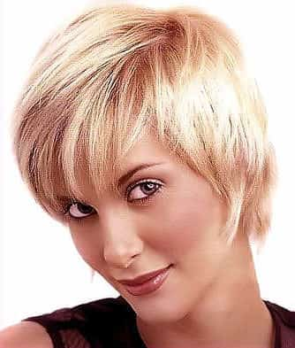 Short Blonde Haircuts Ladies Trimmed Platinum To Bronde Tresses