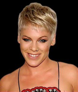 Pink with Short Hair