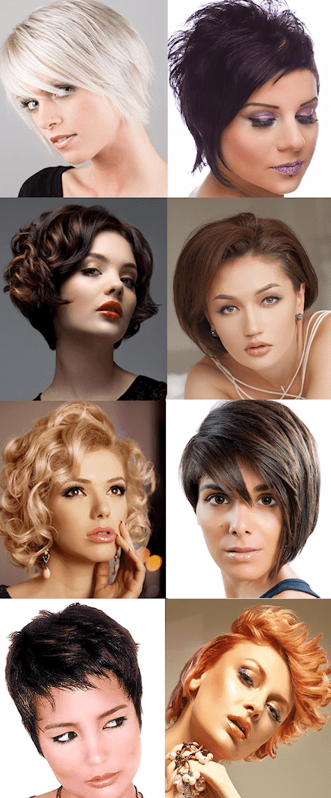 Short Hairstyles Montage